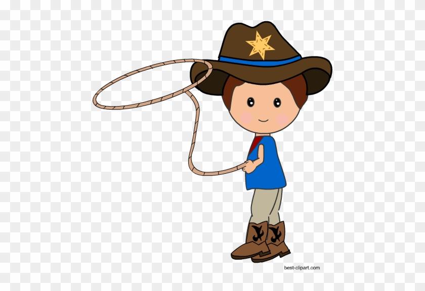 Cowboy With A Lasso Rope Clip Art - Lasso #363934