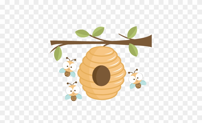 Beehive Bee Hive Clip Art Clipart Image Clip Art Library - Beehive And Tree Clip Art #364007