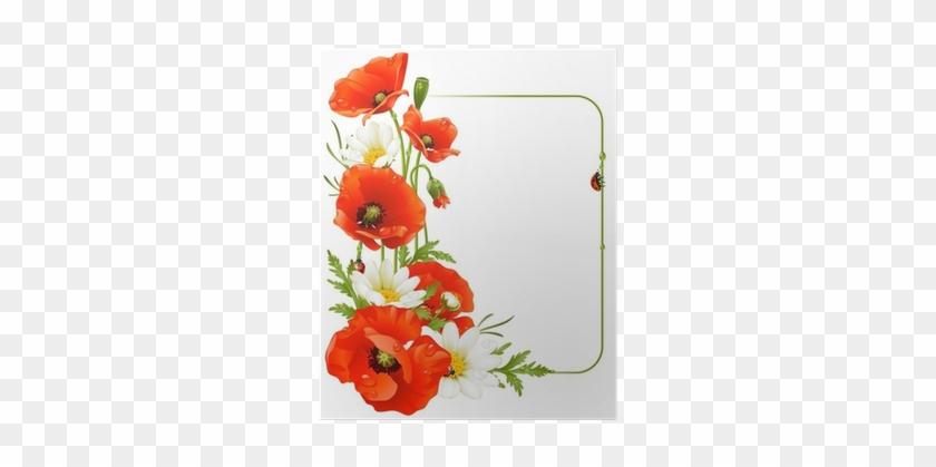 Vector Flower Frame Wizard Of Oz Poppy Clipart Free Transparent
