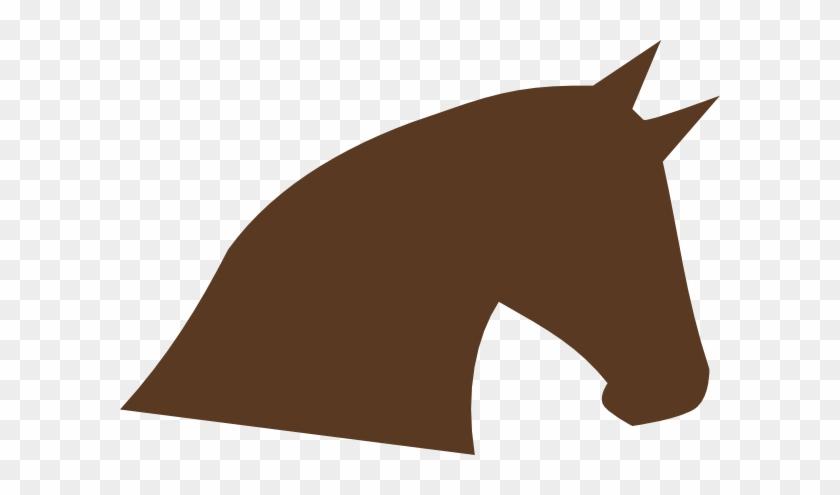 Enlarged Brown Horse Head Clip Art At Clker - Cartoon Horse Head #364516
