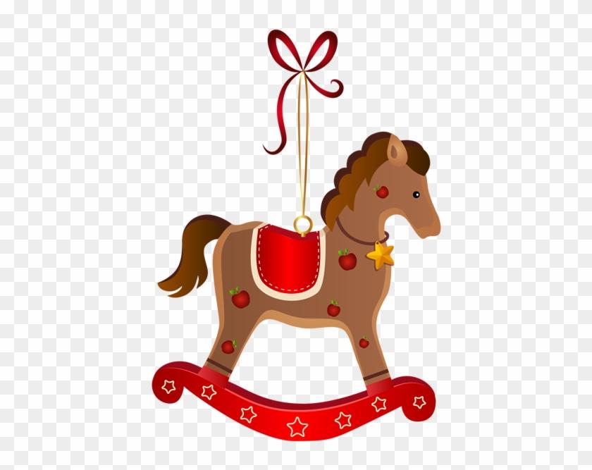 Rocking Horse Christmas Ornament Transparent Png Clip - Rocking Horse Christmas Ornament #364549