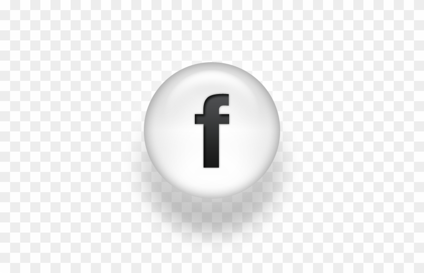 098105 Black White Pearl Icon Social Media Logos - Facebook Logo Black And White #364989