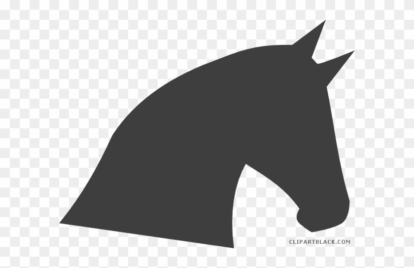 Horse Head Animal Free Black White Clipart Images Clipartblack - Horse Head Clip Art #365190