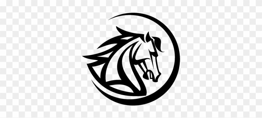 Running Horse Clip Art Download - Black Horse Head Logo #365273