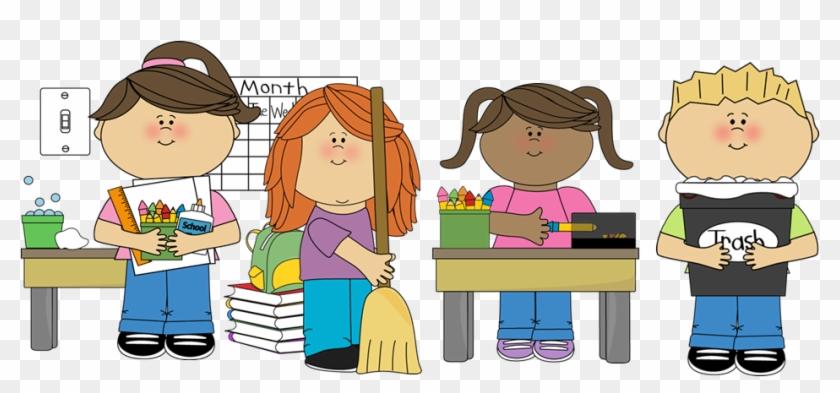 Student Helper Clip Art - Clean Up Classroom Clipart@clipartmax.com