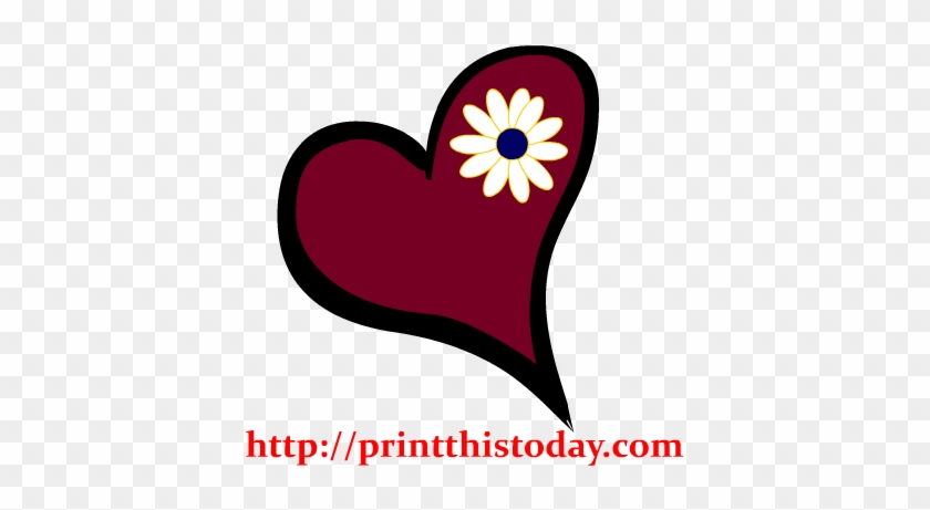 Love Clipart Cute Heart - Cute Hearts And Flowers Clipart #365642