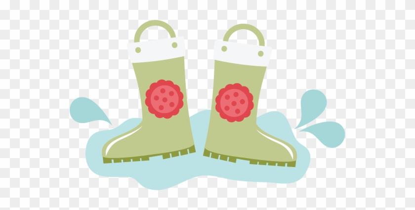 Rain Boots Svg Files For Scrapbooking Cardmaking Rain - Cute Rain Boots Clipart #365678