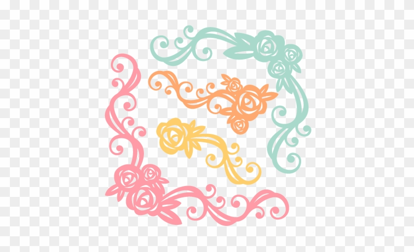 Flower Flourishes Svg Scrapbook Cut File Cute Clipart - Clipart Flowers For Cricut #365738
