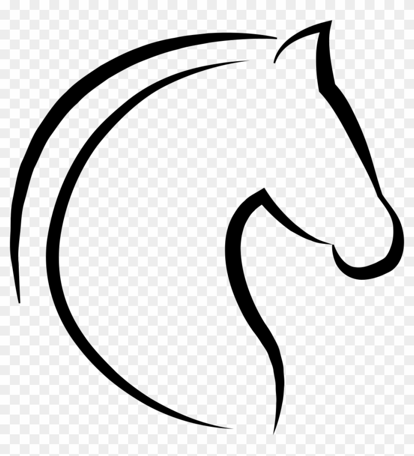 Horse Head With Hair Outline Comments - Simple Horse Head Outline #365769