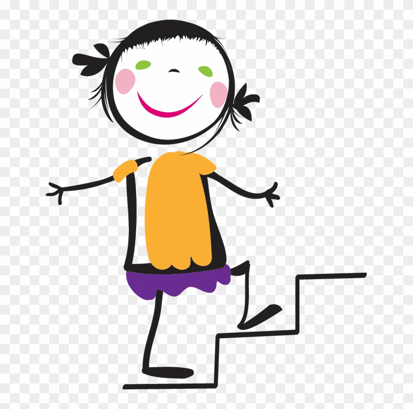 Woman Clipart Climbing Stair Walking Up Stairs Cartoon Free Transparent Png Clipart Images Download
