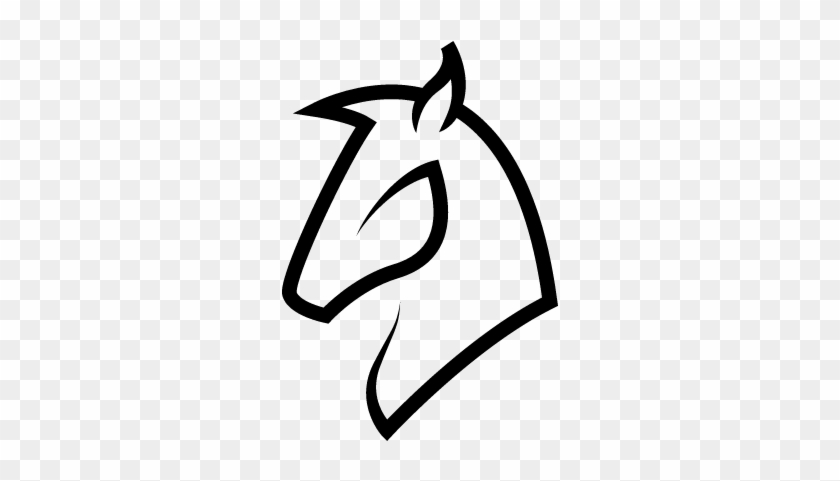 Horse Head Outline Vector - Outline Of A Horse Head #365836