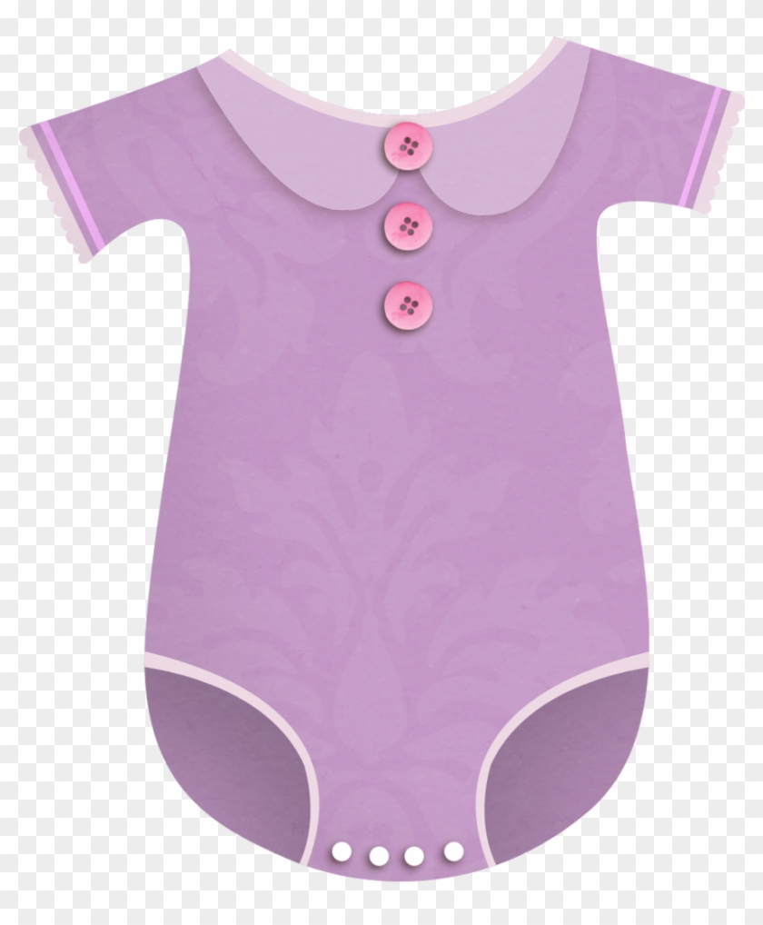 B *✿*little Love Girl - Baby Clothes Clipart Pink And Violet #365980