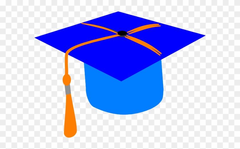 Gallery For > Orange Graduation Cap Clipart - Blue And Orange Graduation Hat #366340