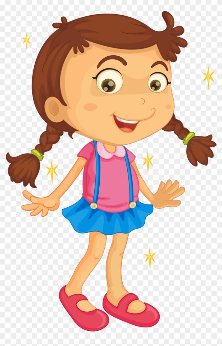 Cartoon Charactersanime Girlsclip Artmuralspreschoollittle - Parts Of The Body Chat #366493
