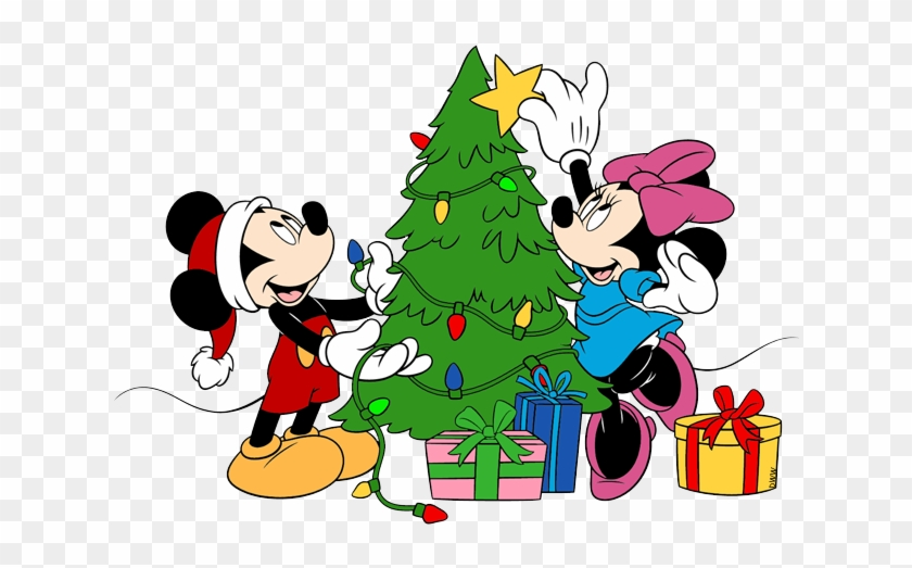 pluto mickey minnie decorating tree micky mouse christmas png