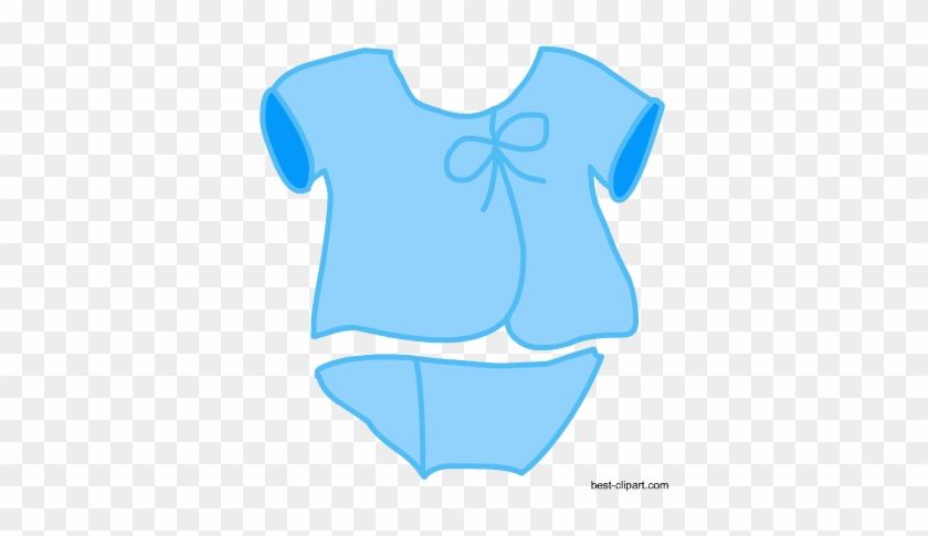 Baby Clothes In Blue Color, Free Clip Art - Free Printable Baby Shower Invitations #366582