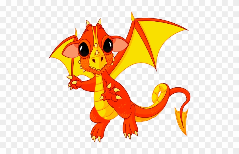 Coloring For Kids - Cute Baby Dragon #366889