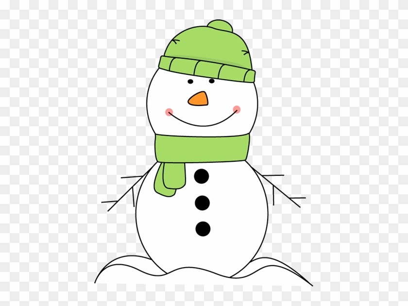 Firefighter Clipart Snowman - Snowman With Scarf And Hat #366925