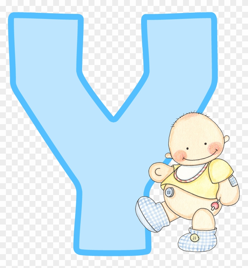 Baby Letters, Baby Illustration, Baby Blue, Baby Showers, - Letra V Con Bebe #367474