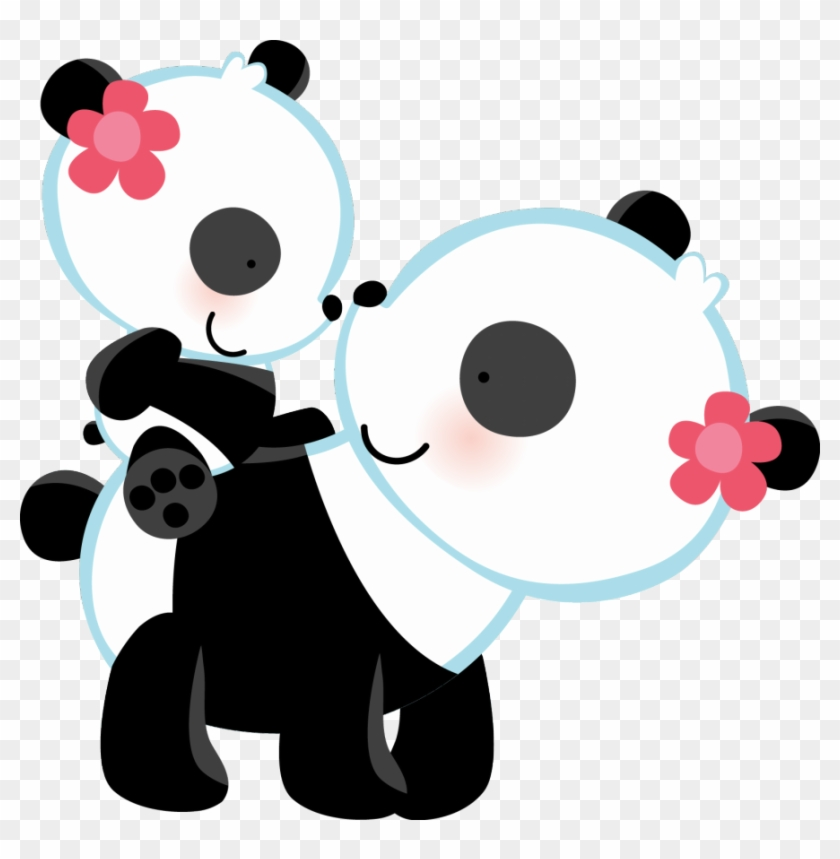 Panda Bear Love Wall Art Mural Decal For Baby Girl - Mom And Baby Panda Clip Art #367481