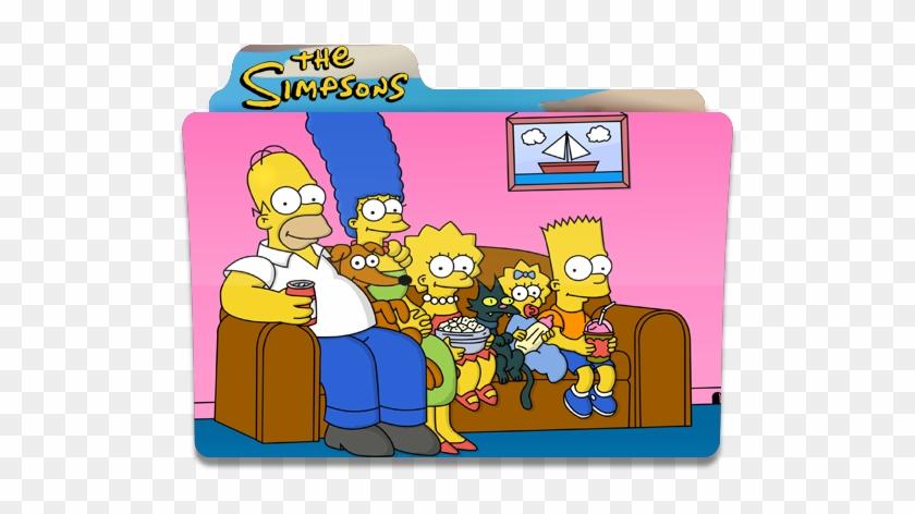 The Simpsons Watching Tv Folder Folders Icon Disney Fox Deal