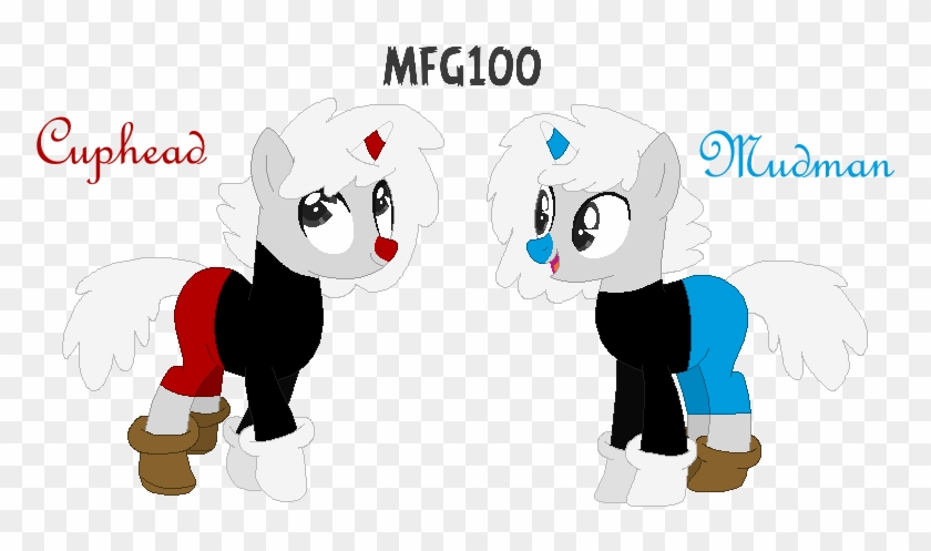 Cuphead And Mugman By Mixelfangirl100 - Cuphead And Mugman Mlp #368169