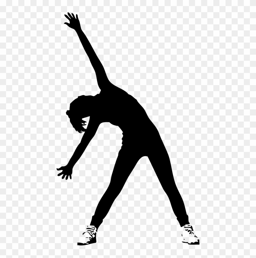 Female Athlete Silhouette Clipart - Silhouettes Of People Exercising #368418