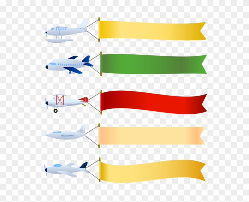 Baby Craftsschool Daysetiquettebannerclip Arthandmade - Airplane Flying With Banner #368623