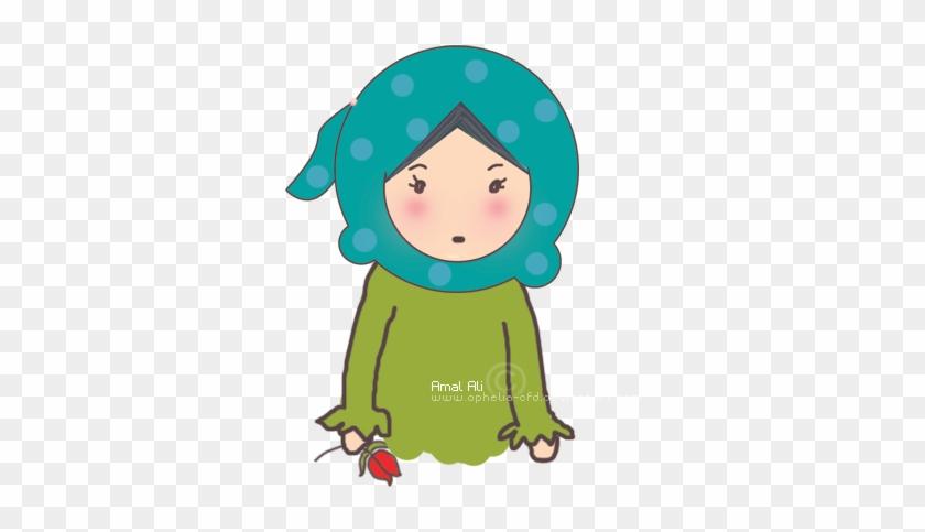 Nice Cute Cartoon Muslimah Cartoon Girl Muslimah Cake - Muslim #368670
