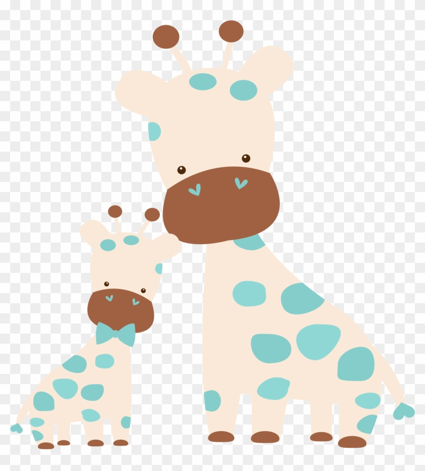 Photo By @kammytroquinhas - Mom And Baby Giraffe Clip Art #368785