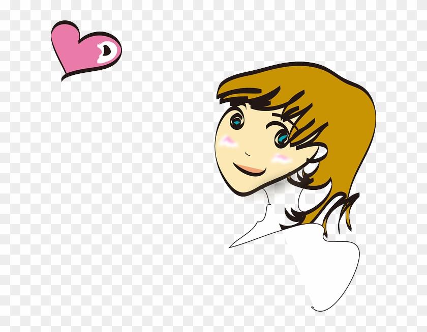 Amorous, Amatory, Cute, Face, Girl, Love - Baby Girl Clip Art #369289