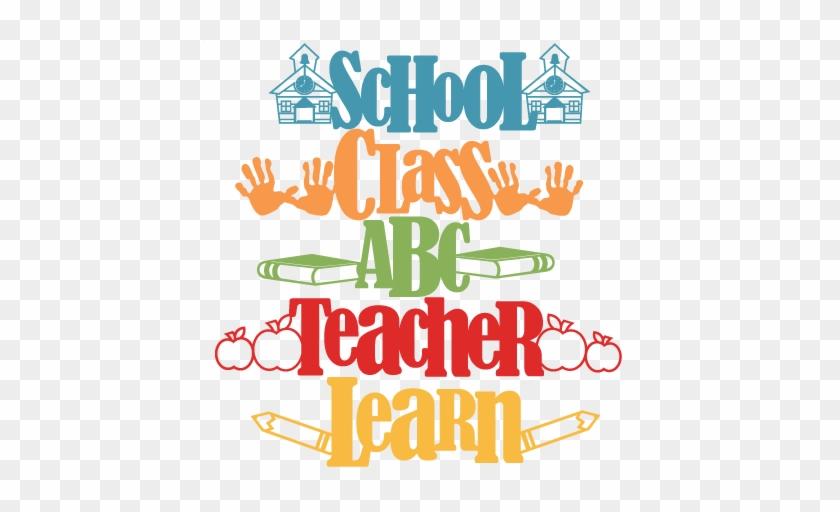 School Word Titles Svg Scrapbook Title School Svg Cut - Scrapbook Word #369406