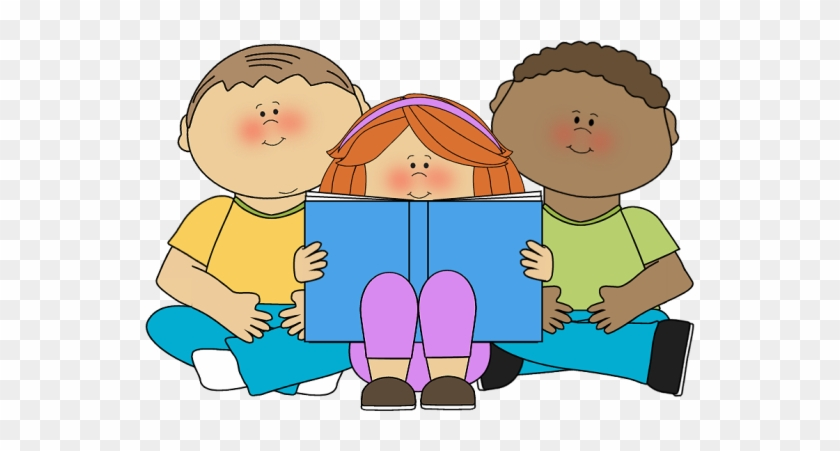 Girl Sitting And Reading A Book Clip Art, Child Reading - Book Buddies Clip Art #369425