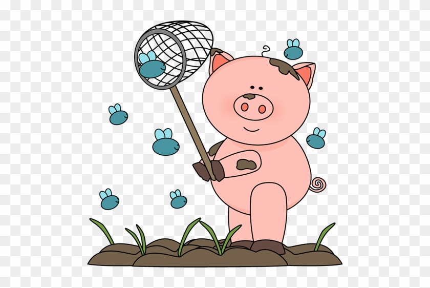 Pig In The Mud Catching Flies - Pig In Mud Clipart #369480