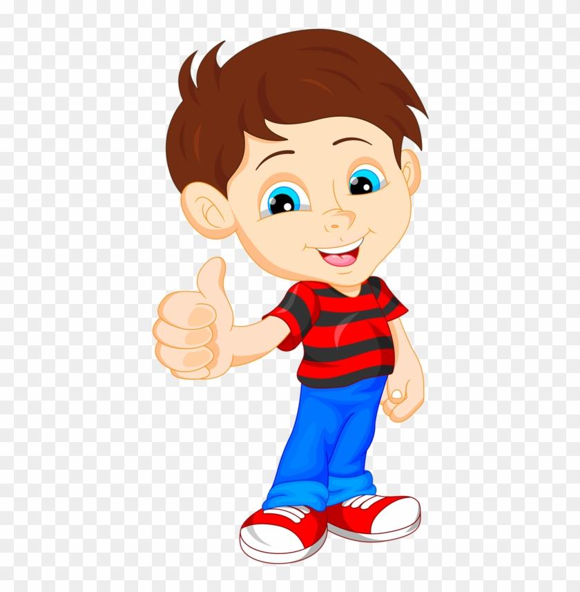 Album - Cute Little Cartoon Boy - Free Transparent PNG