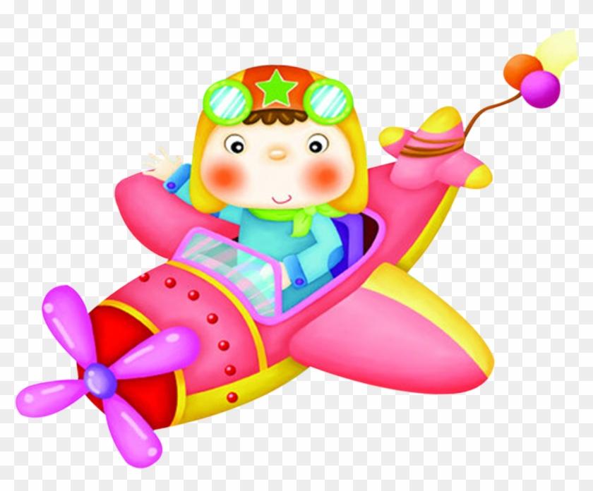 Airplane Cartoon Child Clip Art Airplane Kids Flying Clipart