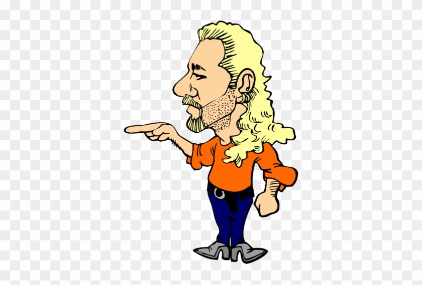 Long Hair Men Clipart - Long Hair Man Clipart #369995