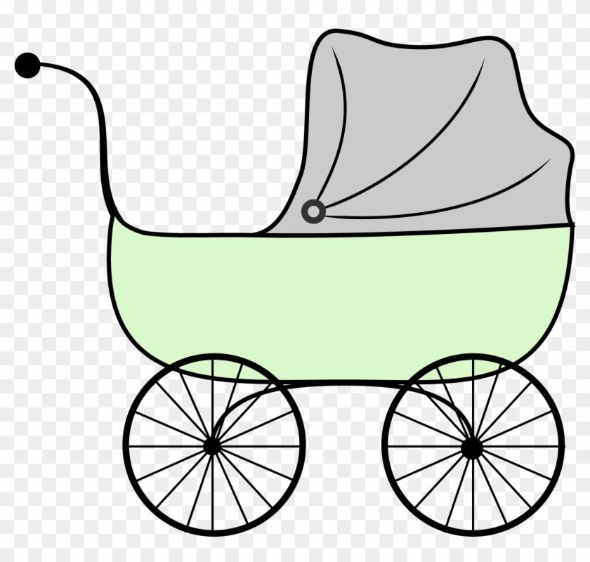 Baby Shower Printables Vintage Stroller Clipart - Transparent Baby Cart #370066
