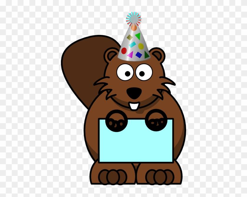 С днем рождения картинка с бобром