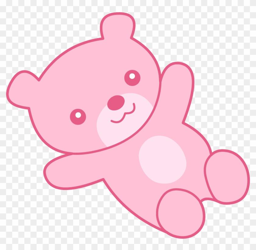 Pink Clip Art - Pink Teddy Bear Clipart #370657