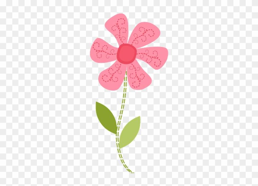 Pink Flower Clip Art - Minus Flor #370771