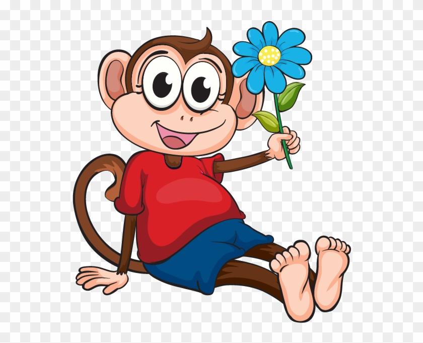 Chimpanzee Monkey Cartoon Clip Art - Monito Animado #370994
