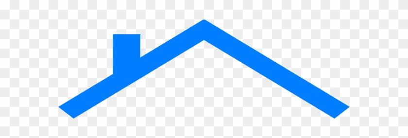 Blue House Roof Clip Art - House Roof Logo Blue #371169