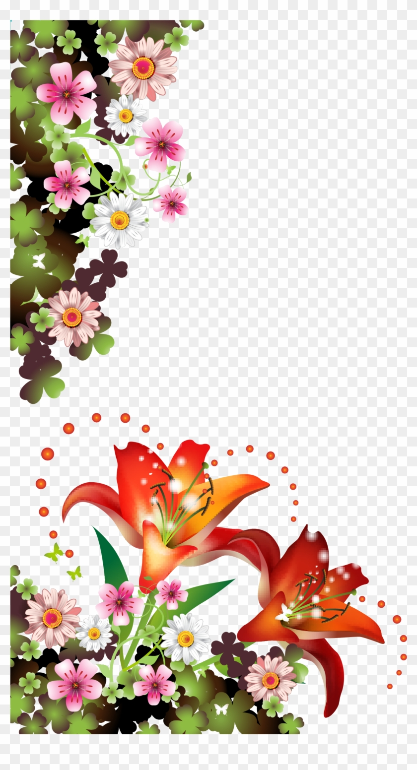 Picture Frames Flower Borders And Frames Floral Design - Picture Frames Flower Borders And Frames Floral Design #371443