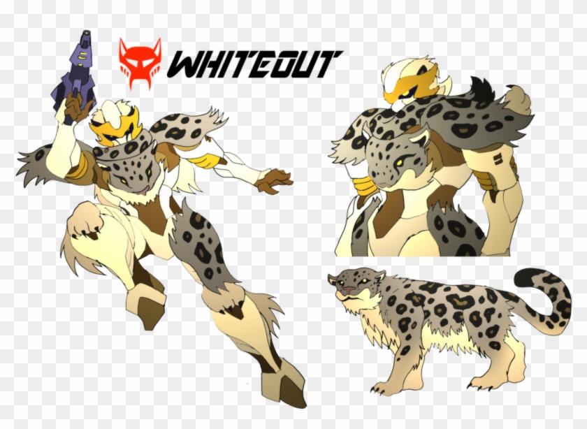 Nickonplanetripple $25 Commission- Beast Wars Oc Whiteout