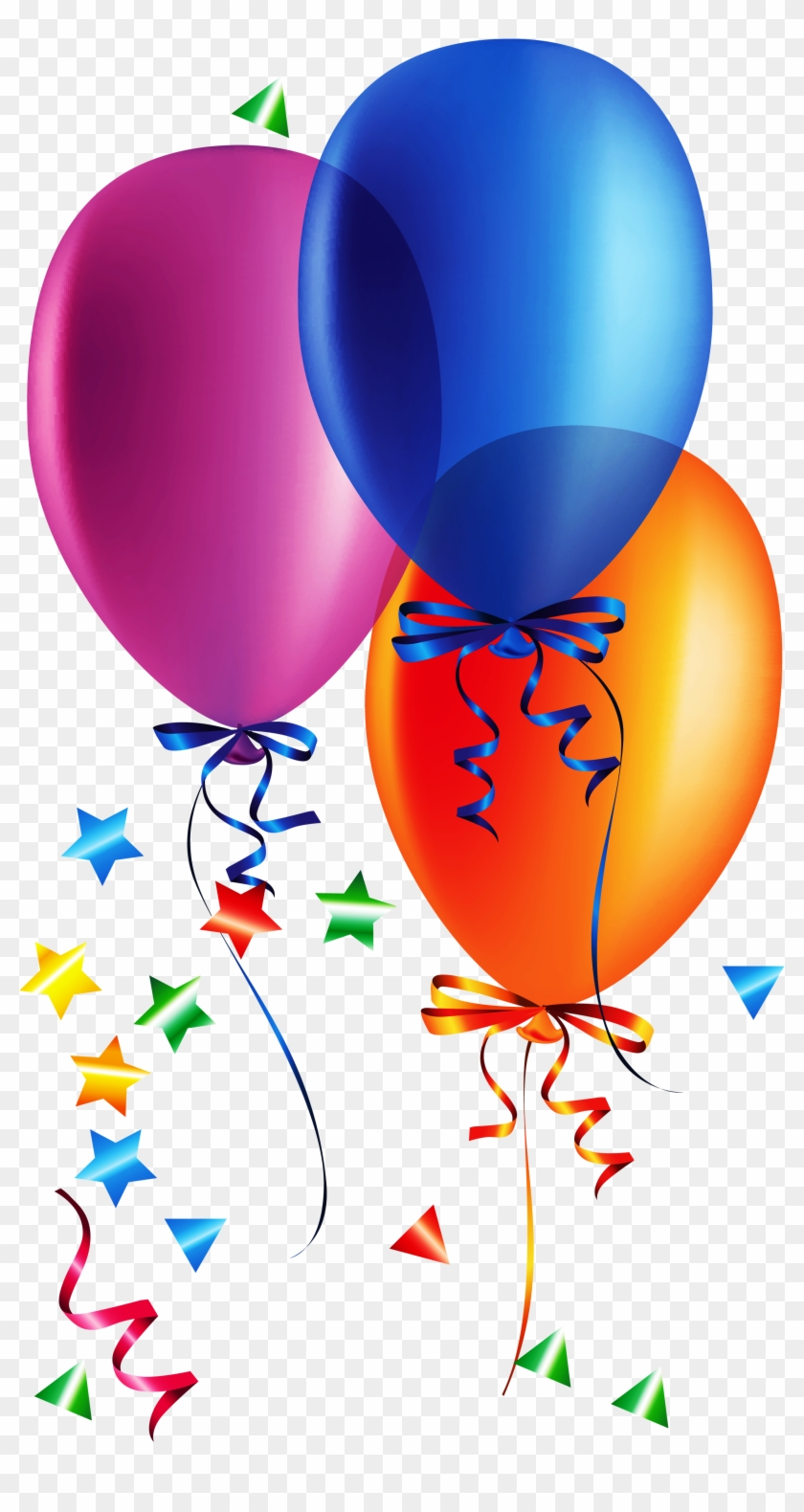 Clip Art With Balloons Confetti Clipart Balloon Pencil - Happy Birthday With Balloons #371417