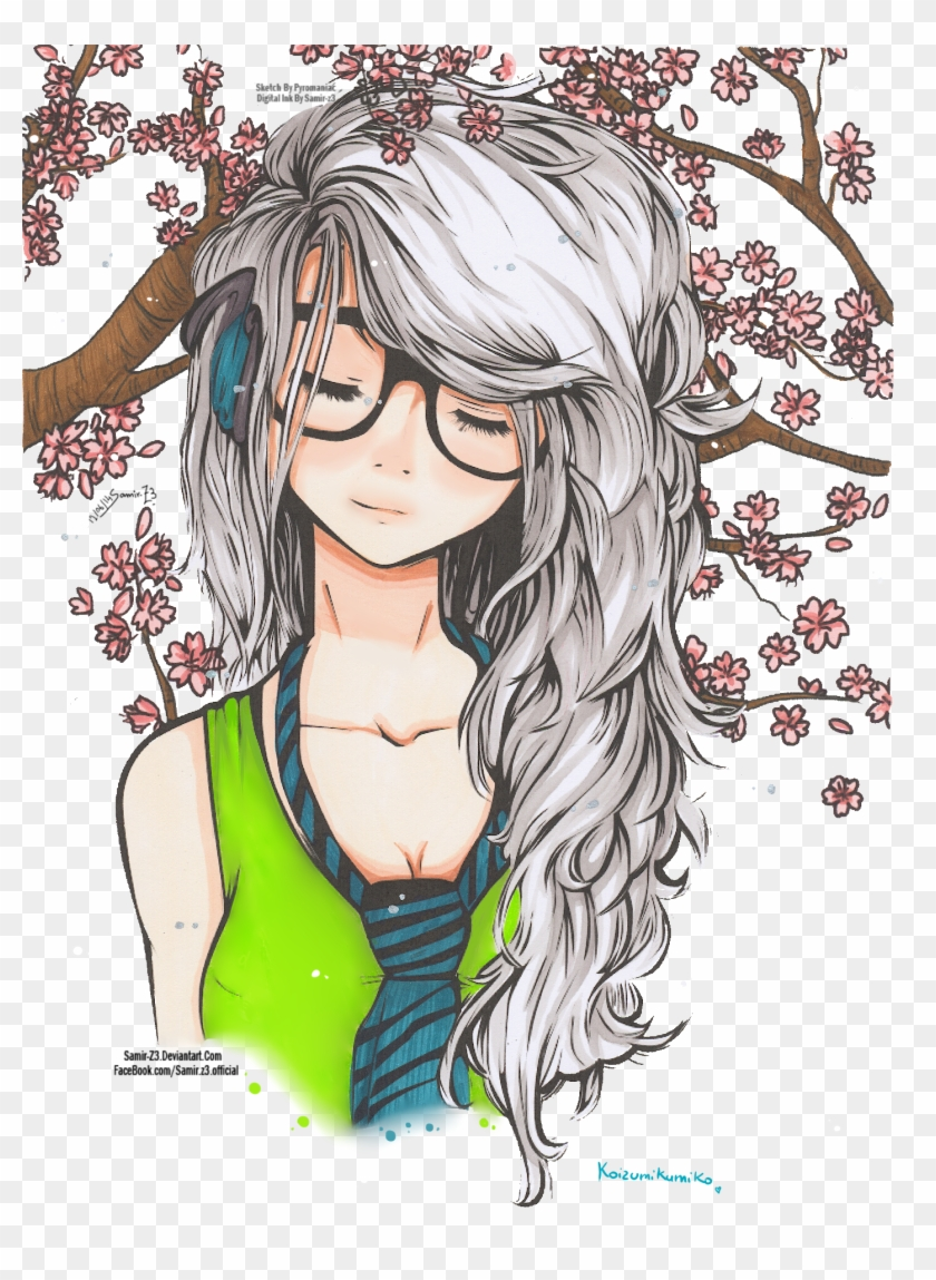 Cute girl by koizumikumiko on deviantart cute girl with glasses drawing