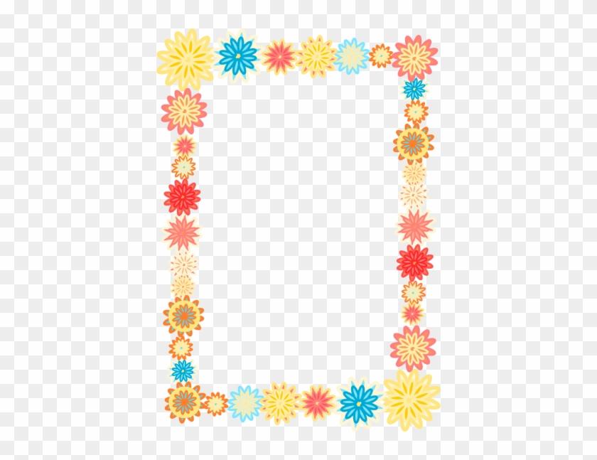 Digital Scrapbooking Flower Frames And Colorful Flower - Colorful Flower Borders And Frames #371827