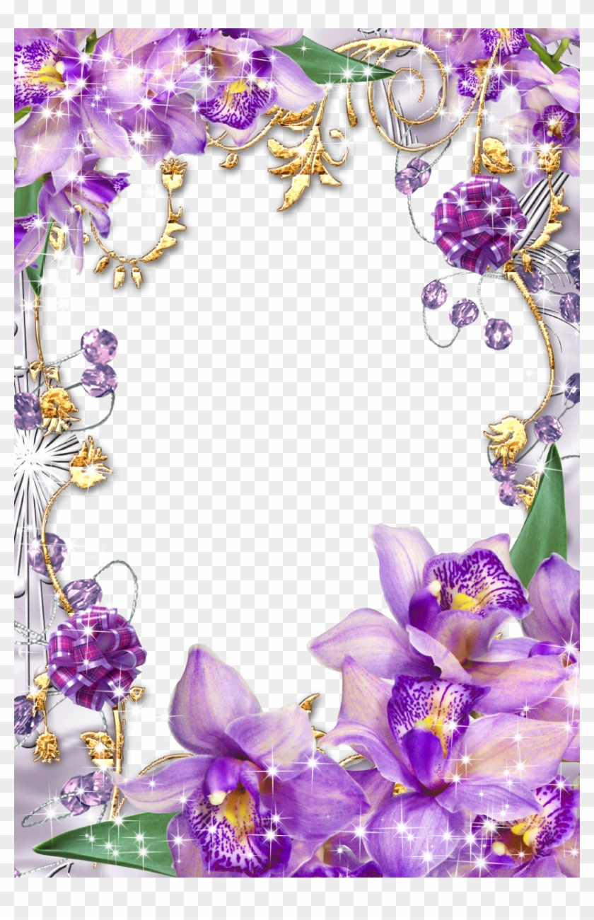 Purple Flower Borders And Frames - Purple Flower Frames Png #371837
