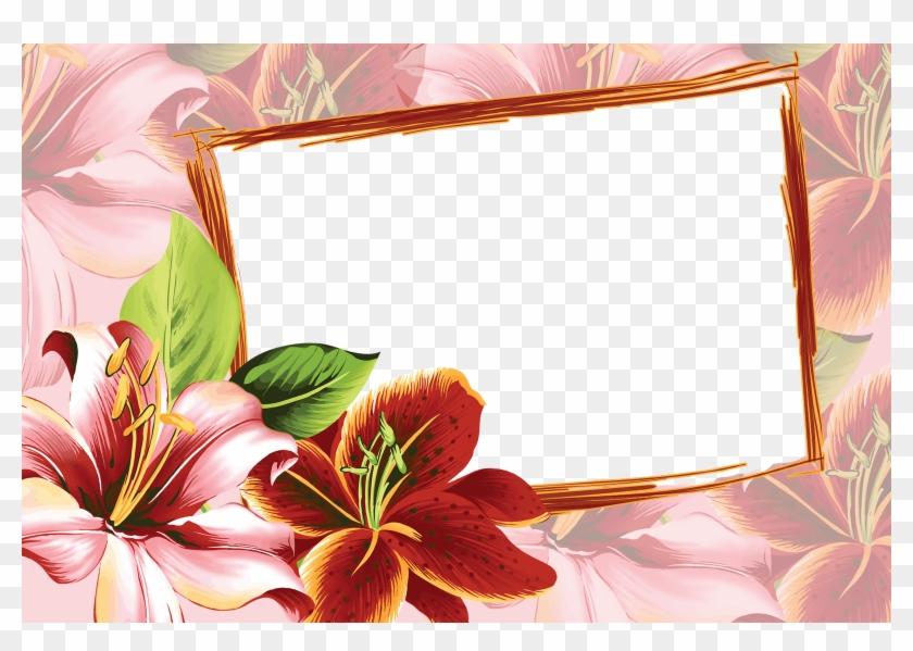 Frame Flowers - Flower Frames Design Png - Free Transparent PNG ...